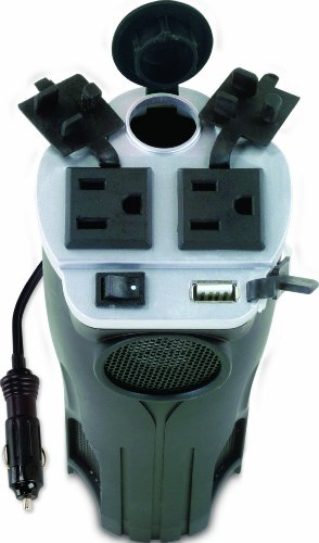 Rally 7413 200W Cup Holder Power Inverter with USB Port