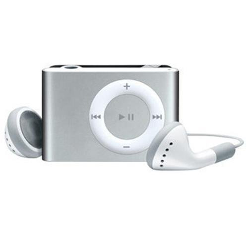 Silver Metal Clip MP3 Player supports up to 2GB 4GB 8GB