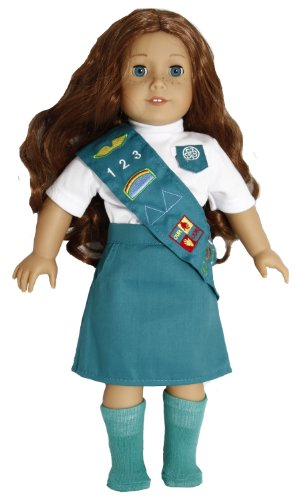 Doll Outfit Similar to Junior Girl Scout - 18 Inch Dolls Clothes/clothing Fits American Girl - Includes 18