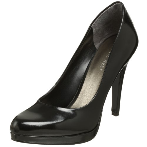Nine West Women's Rocha Pump,Black Leather,7.5 M US
