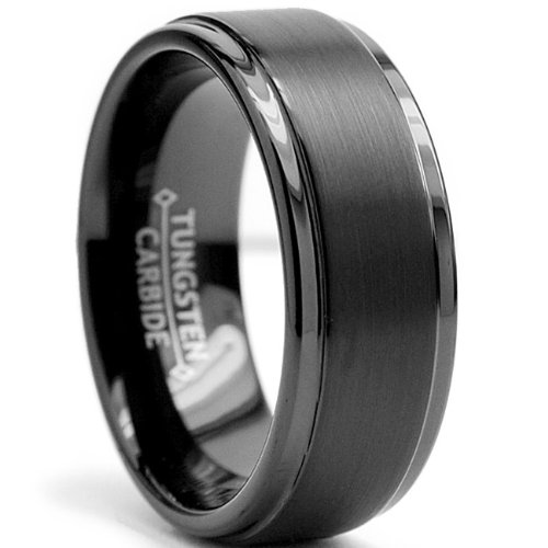 ... High Polish  Matte Finish Men's Tungsten Ring Wedding Band Size 10