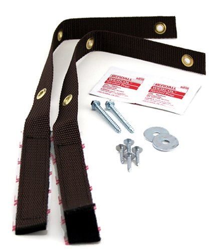 Quakehold! 4162 15-Inch Furniture Strap Kit, Antique Brown