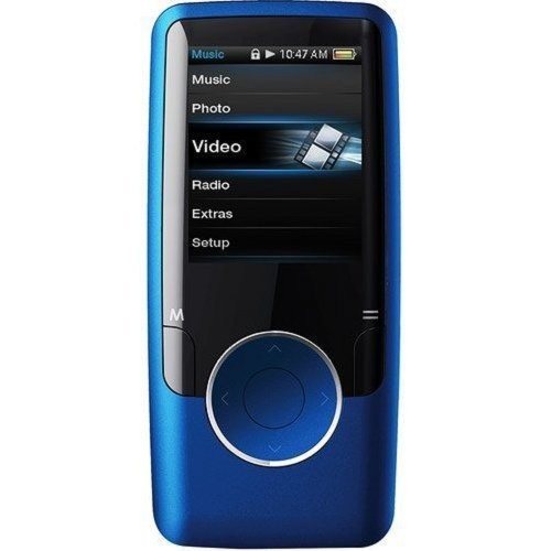 Coby MP620-8GBLU 8 GB 1.8-Inch Video MP3 Player with FM Radio (Blue)