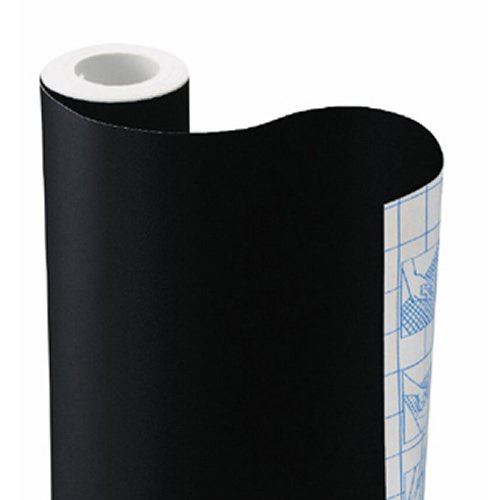 Commercial Chalkboard Contact Paper, Black, 18 Inches x 6 Feet