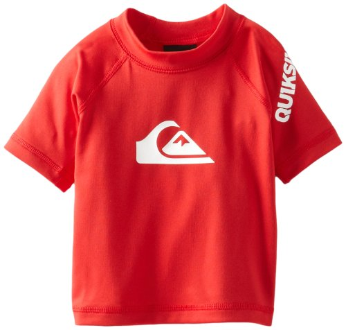 Quiksilver Baby-Boys Infant All Time Short Sleeve Sufr Shirt, Comp Red, 6-9 Months