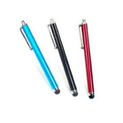 3 pcs Aqua Blue/Black/Red Capacitive Stylus/styli Touch Screen Cellphone Tablet Pen for iPhone 4 4s 3 3Gs iPod Touch iPad 2 Motorola Xoom, Samsung Galaxy, BlackBerry Playbook AMM0101US, Barnes and Noble Nook Color, Droid Bionic