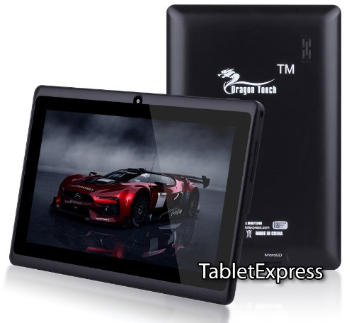 7'' A13 Google Android 4.0 AllWinner Tablet Boxchip Cortex A8 1.2Ghz MID Capacitive Touch Screen G-sensor WIFI, Camera, Skype Video Calling, Netflix, Flash Supported Dragon Touch(TM) MID7134B [By TabletExpress] (4GB Black)