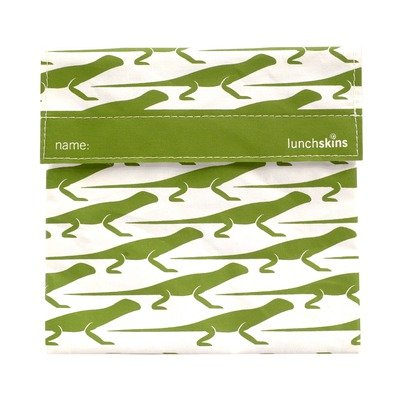 Reusable Cloth Sandwich Bag - Green Lizard