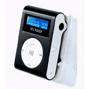 LCD MINI CLIP ON MP3 PLAYER.SUPPORTS 1GB,2GB,4GB,8GB SDHC MEMORY-BLACK-BULK PACKAGE,MEMORRY CARD NOT INCLUDED