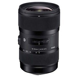 Sigma 210101 18-35mm F1.8 DC HSM Lens for Canon APS-C DSLRs (Black)