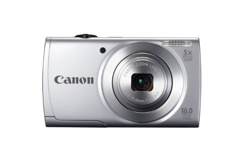 PowerShot A2500 16.0 MP Digital Camera with 5x Optical Zoom and 720p HD Video Recording (Silver)