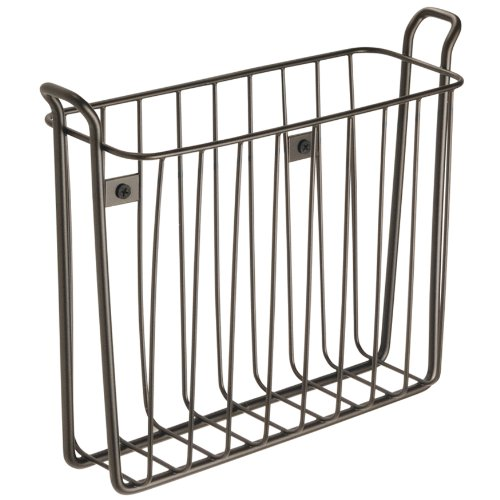 InterDesign Classico Wallmount Magazine Rack, Bronze