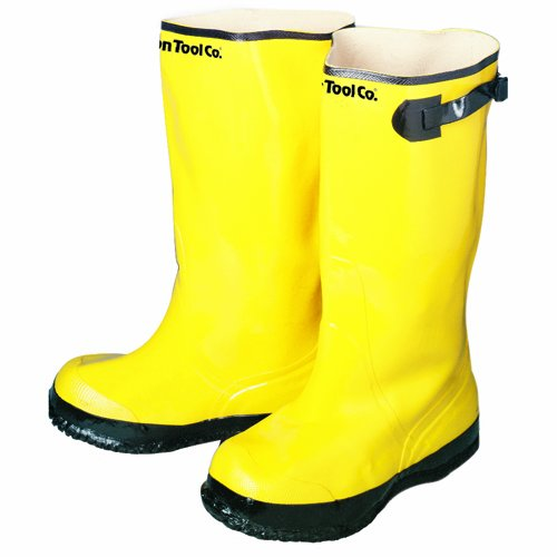 Bon 14-725 Heavy Duty Yellow Rubber Contractor's Overshoe Boot, Size 14