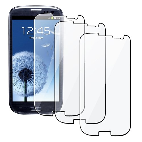 Exponentc High Quality Clear Screen Protector Shield for the Samsung Galaxy S3 S III i9300 - 3 Pack