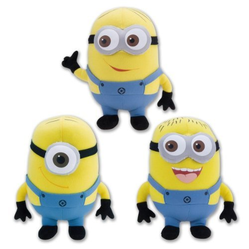 Despicable Me 3 Piece Set Minions 9 Inch Deluxe Plush Figure Doll Toy Jorge Dave Stewart