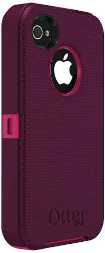 Otterbox Defender Series for iPhone 4 & 4S - Retail Packaging - Peony Pink/Deep Plum