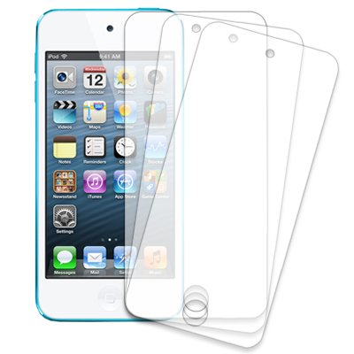 Mpero 3 Pack of Clear Screen Protectors for Apple iPod Touch 5th Gen 5Gen