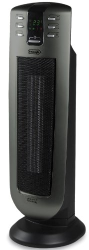 DeLonghi TCH7090ER Safeheat 24 In. Ceramic Tower Heater with Remote Control and Eco Energy Function